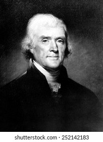 Portrait of Thomas Jefferson, by Rembrandt Peale, ca. 1810s.
