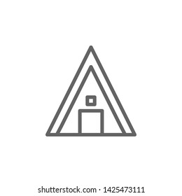 Portugal, camping icon. Element of Portugal icon. Thin line icon for website design and development, app development. Premium icon