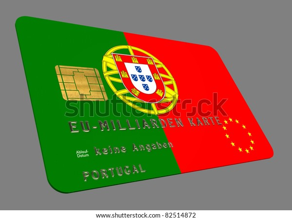 Portugal Euro Kredit Karte Miscellaneous Business Finance Stock