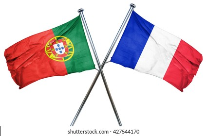Portugal flag  combined with france flag