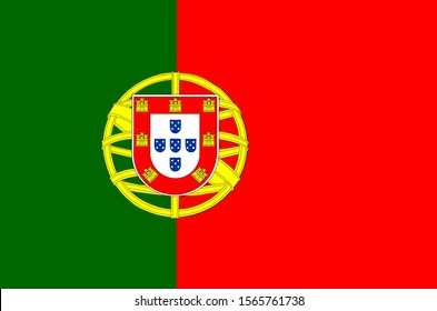 Portugal flag illustration country national