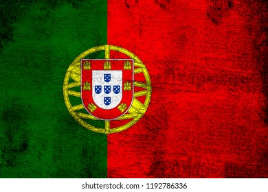 Portugal grunge and dirty flag illustration. Perfect for background or texture purposes.
