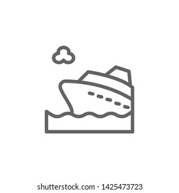 Portugal, yatch icon. Element of Portugal icon. Thin line icon for website design and development, app development. Premium icon