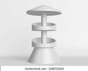 POS Stand For Selling Products. 3D rendering