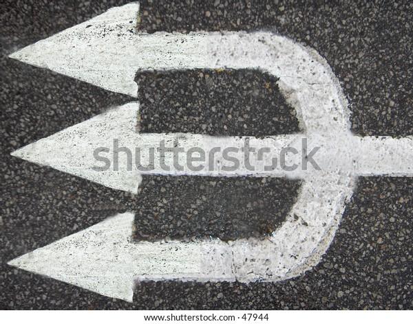 Posidons Trident Pavement Marking