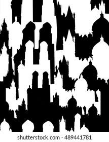 Positive negative pattern with city motive