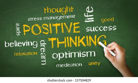 Positive Thinking Chalk Drawing