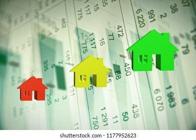 Positive Trend in Property Market. 3D rendering.