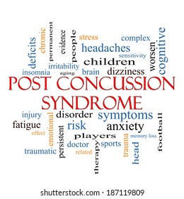 Post Concussion Syndrome Word Cloud Concept with great terms such as brain, injury, trauma and more.
