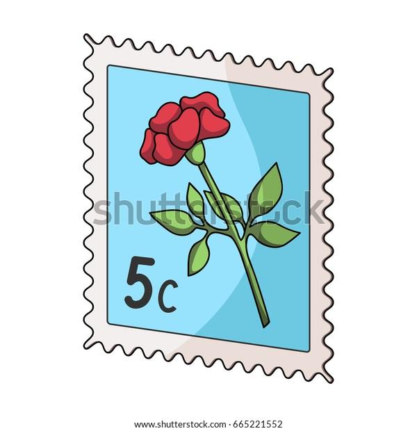 Postage Stampmail Postman Single Icon Cartoon Stock