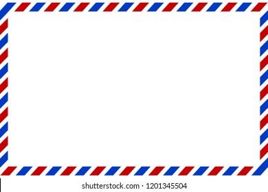 Postal envelope. Airmail. Preparation for the designer.