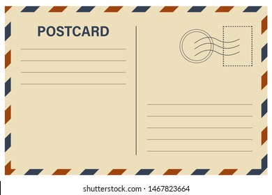 postcard with white paper texture.