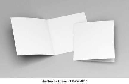 postcard white template 3d illustration
