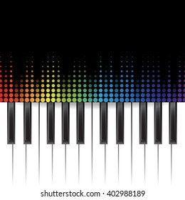 poster background template music piano keyboard stock vector