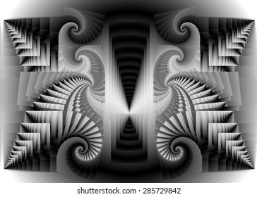 Postmortem passageway, Terminal synapse, Abstract digital art, fractal grey infinity , patterns,texture,puzzle,science,the end of the knowledge,.Abstract expressionism, abstract surrealism,