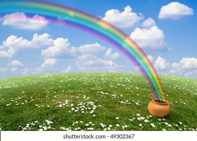 A Pot with the Rainbow