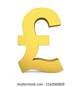 Pound Currency Sign Isolated. 3D rendering