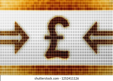 Pound icon in the screen. 3D Illustration.