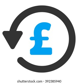 Pound Rebate raster icon. Pound Rebate icon symbol. Pound Rebate icon image. Pound Rebate icon picture. Pound Rebate pictogram. Flat pound rebate icon. Isolated pound rebate icon graphic.