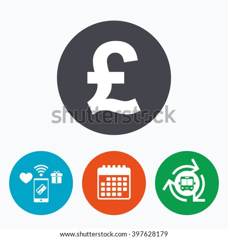 Pound Sign Icon Gbp Currency Symbol Stock Illustration 397628179