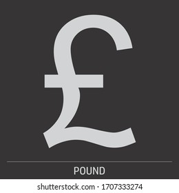 Pound sign icon illustration on gray background with label