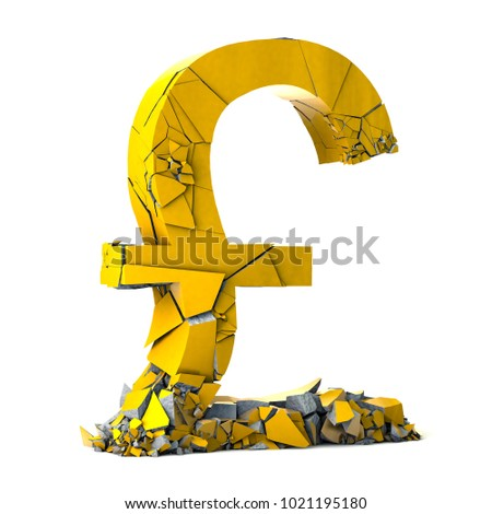 Pound Sterling Currency Symbol On White Stock Illustration