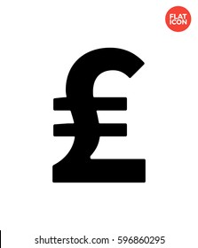Pound sterling Icon Flat Isolated Illustration