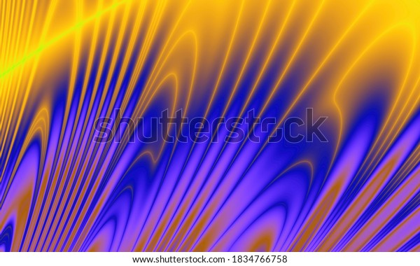 Power flowing art abstract colorful illustration background