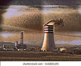 power generation plant 'cooling tower'