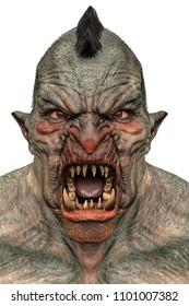 power ogre in white background 3d illustration