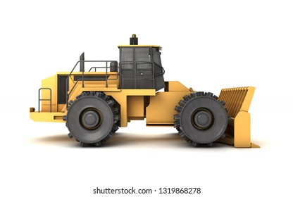 Powerfull Concept Massive Yellow Hydraulic Earth Stock