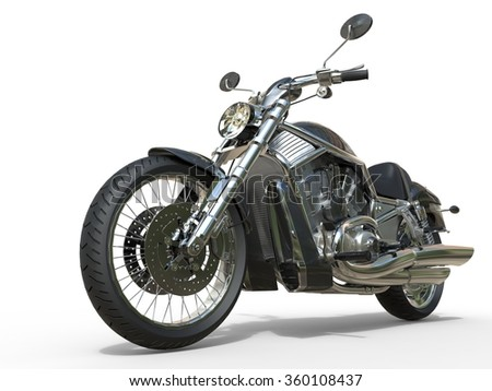 Powerful Vintage Motorcycle Closeup