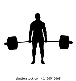 powerlifting successful attempt deadlift athlete powerlifter illustration
