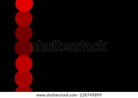 Powerpoint Template Red Bokeh On Black Stock Illustration Royalty