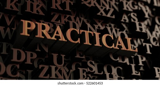 Practical - Wooden 3D rendered letters/message.  Can be used for an online banner ad or a print postcard.