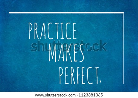 Practice Makes Perfectmotivation Quotes Stock Illustration
