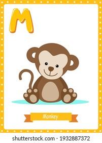 Pre School Learning Book M for Monkey
