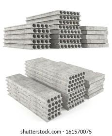 Precast concrete composite hollow core deck slabs. Concrete construction of floors.
