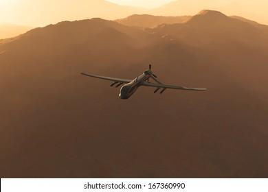 Predator Type RQ1 Drones 3D artwork