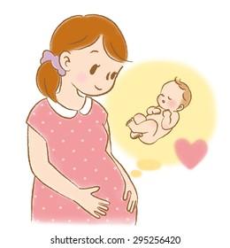 pregnant cartoon images stock photos vectors shutterstock rh shutterstock com pregnant lady cartoon pregnant female cartoon characters