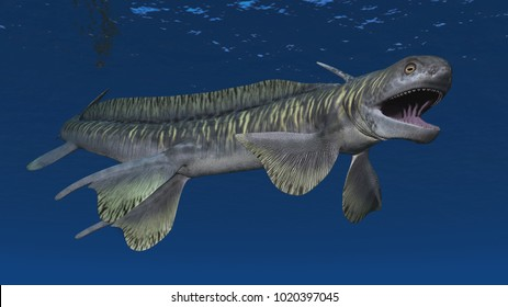 Prehistoric shark Orthacanthus Computer generated 3D illustration