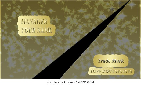 Premium, luxury business card with a modern look gives a rich expression to your business status at every opportunity. Introduce yourself to others in the right way.