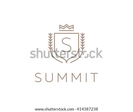 Premium Monogram Letter S Initials Ornate Stock Illustration