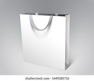 Premium Quality white Paper bag mock up for commercial use. Easy to add your logo or design.