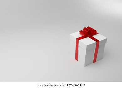 Present box isolate on white background 3D illustration.