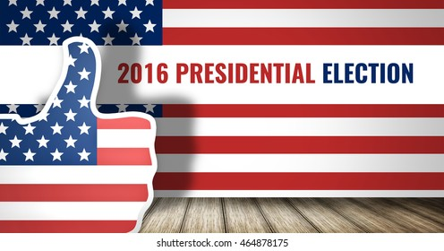 presidential election america flag 3d render
