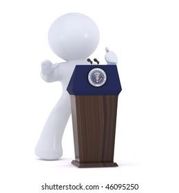 The presidential pedestal