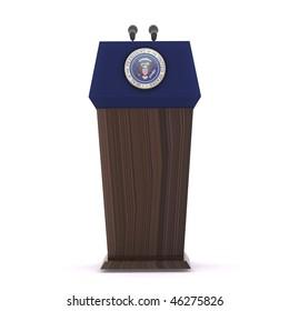 The presidential podium
