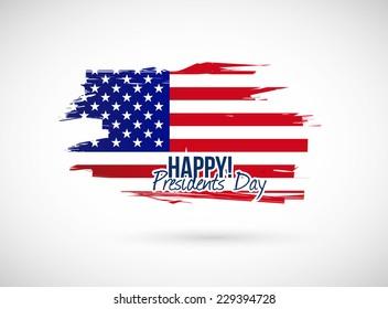 presidents day holiday flag sign illustration design over a white background