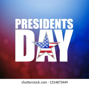 Presidents day sign illustration booked background. US patriotic background